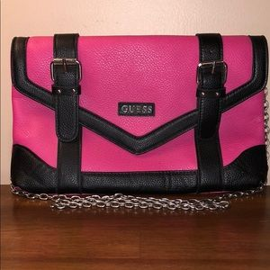 Guess Black and Pink Cross Body